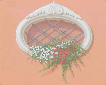 Toscana forever decorazioni pittoriche murali trompe l - Decorazioni su muri interni ...